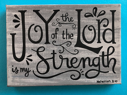 "5""x7"" Canvas Scripture Verse Art"