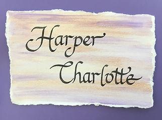 Watercolor Name Art