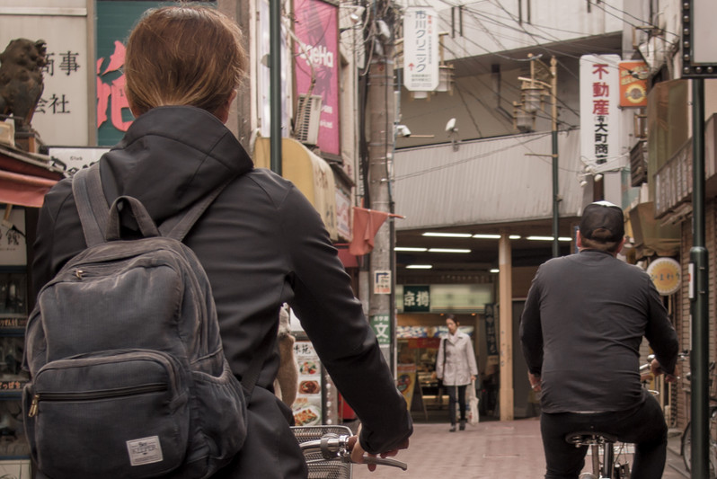 Take a detour from the tourist crowds and ride the streets of Koenji