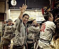 Japanese men celebrating at a summer festival in Asagaya