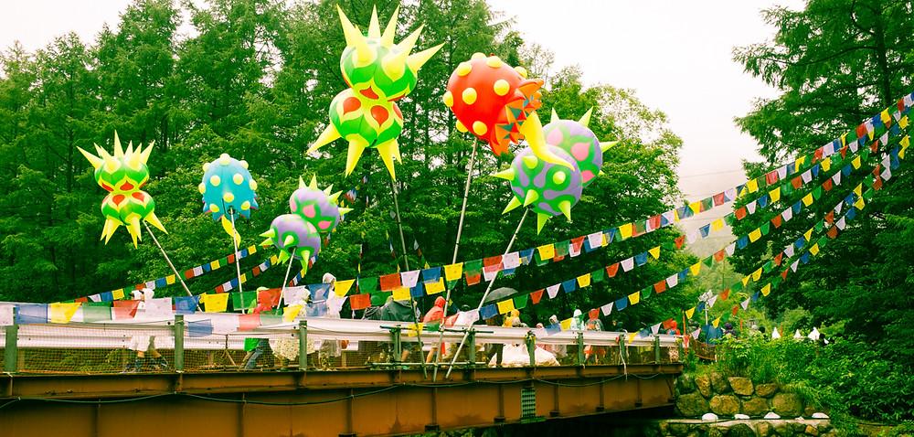 Decorative bridge.