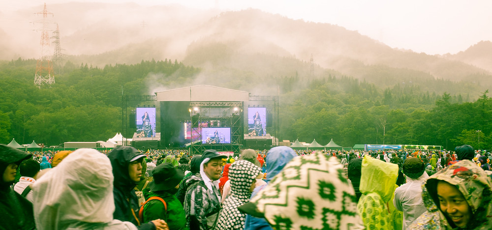 The Avalanches performing at the 2017 Fuji Rock Festival.