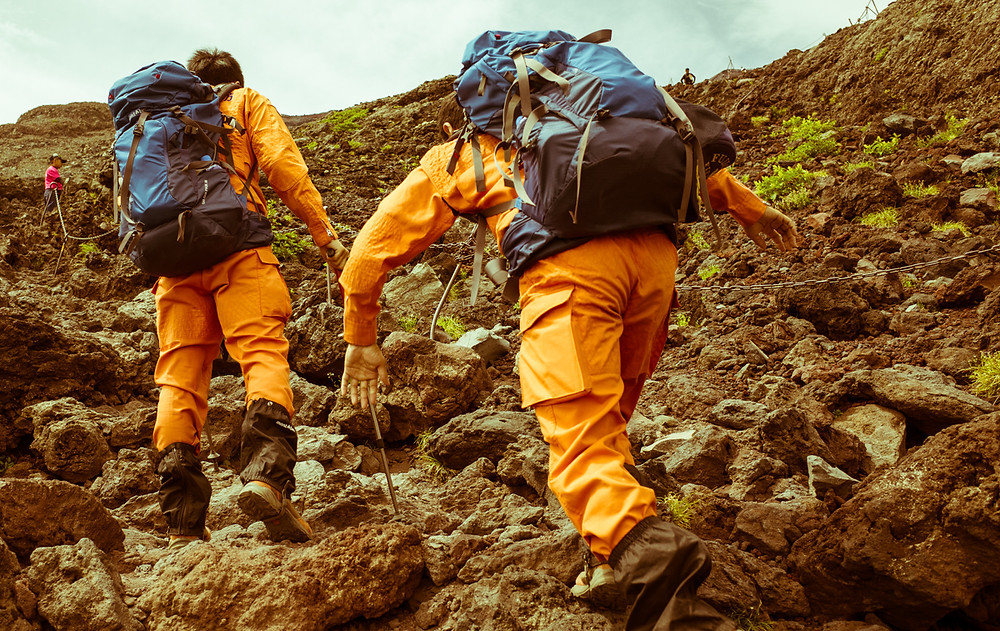 Mt Fuji rescue workers.