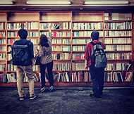 Japanese residents at a bookstore under the JR Chuo Train Line in Koenji, Tokyo