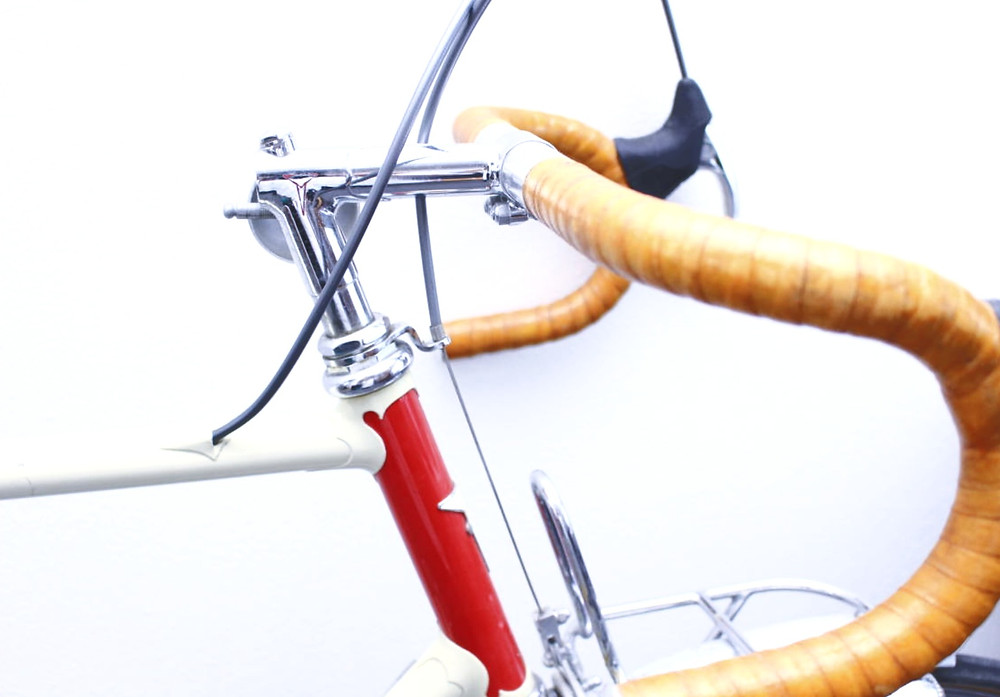 A Toei steel bicycle frame and lugs
