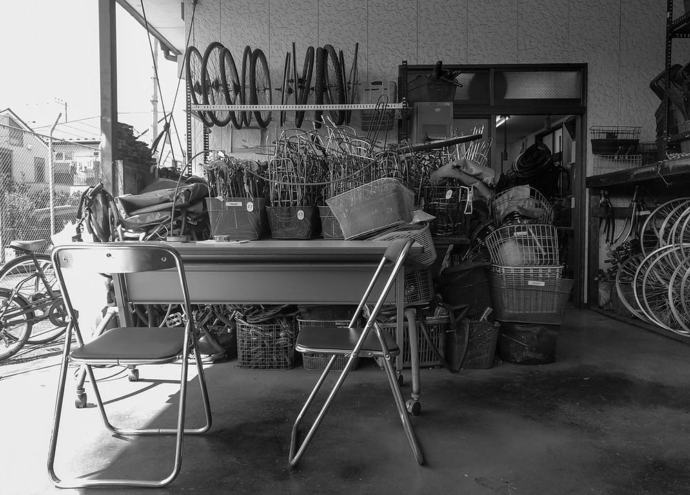 Used bicycle workshop at Suginami Silver Jinzai Center, Tokyo.