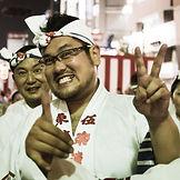 Two performers at the Koenji Awaodori Festival