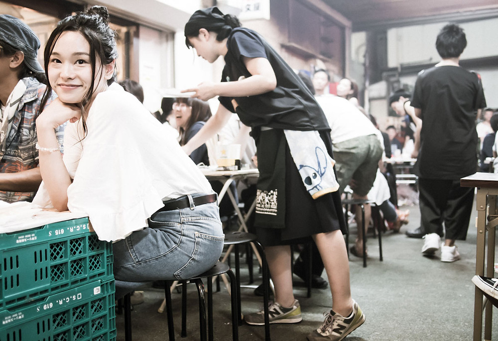 Eating and drinking in Koenji, Tokyo.