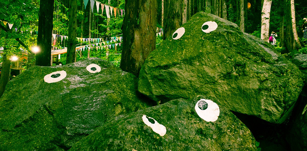 Children's play area at the Fuji Rock Festival.
