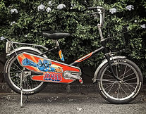 A retro Japanese childrens bicycle