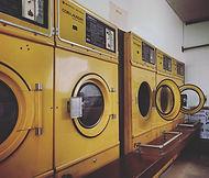 A retro coin laundry in the backstreets of Koenji