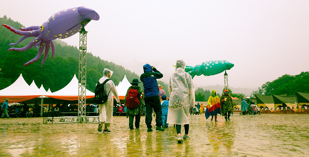 Giant squid at Fuji Rock Festival.