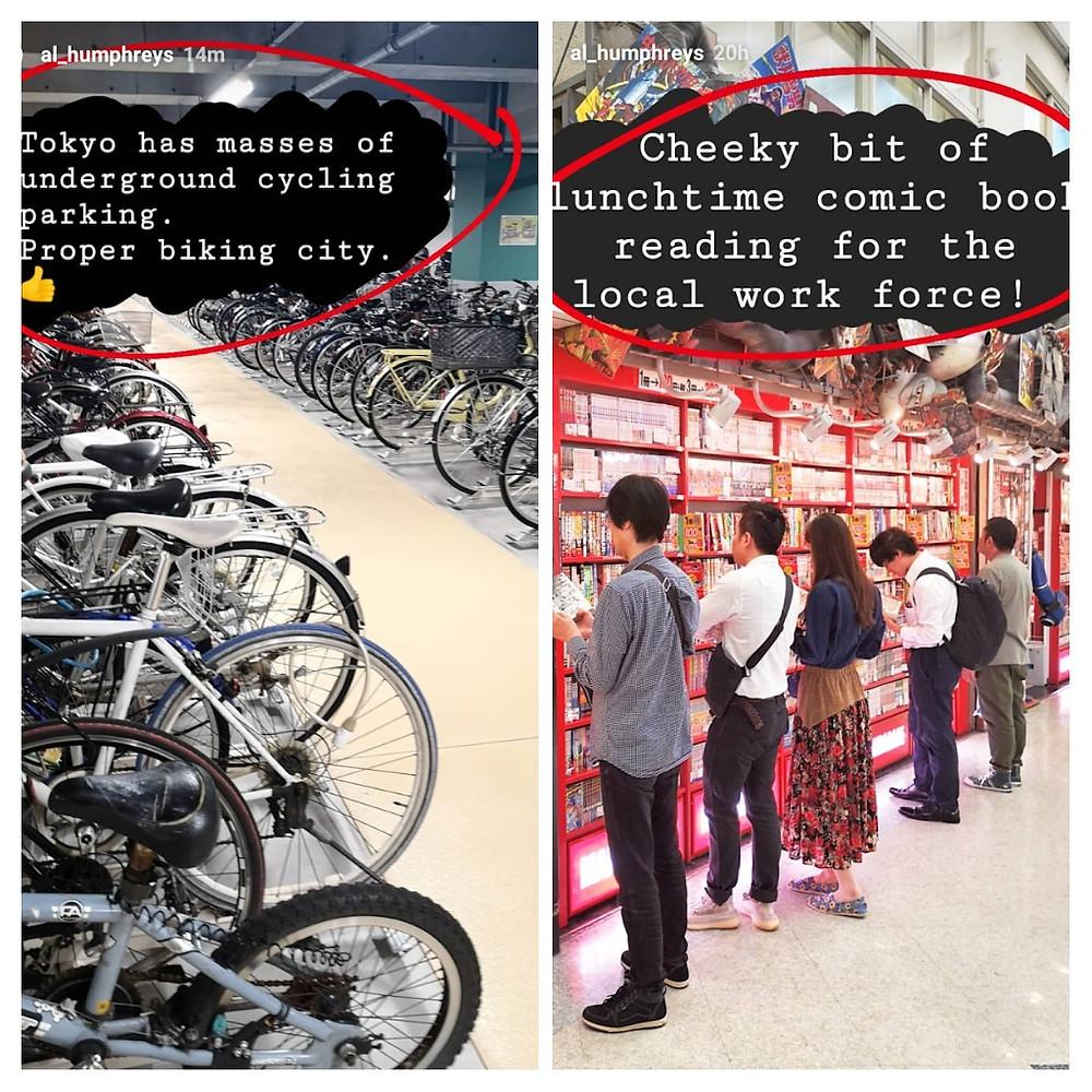 Alastair Humphrys exploring Tokyo, Japan by bicycle
