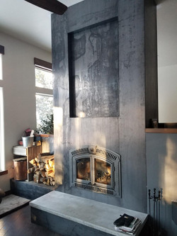 Hot Rolled Steel Fireplace