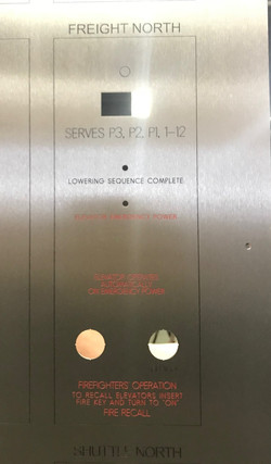 Engraved Fire Control Panel