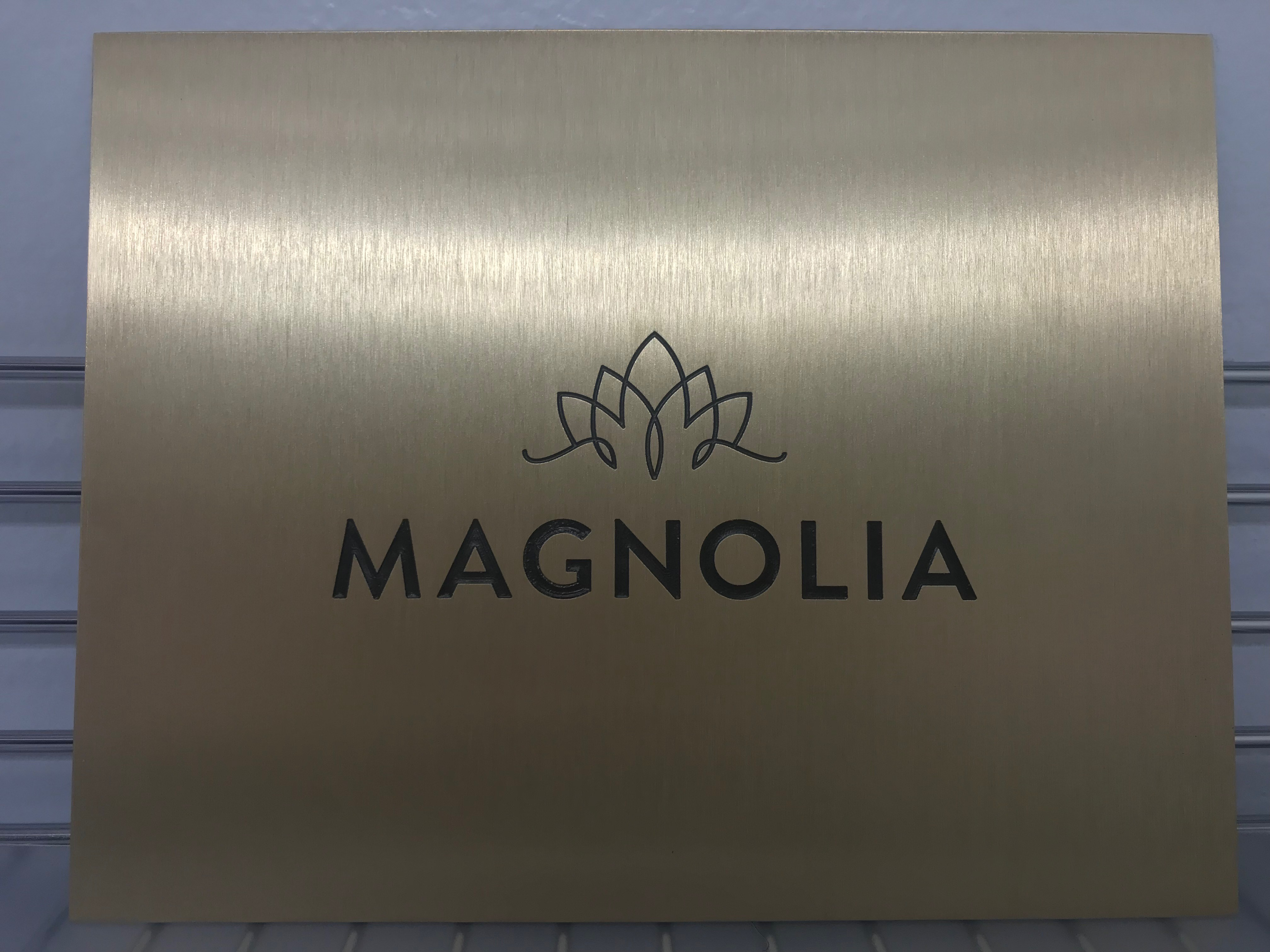Engraved Logo in Bronze Plate