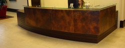 Copper Patina Desk Cladding