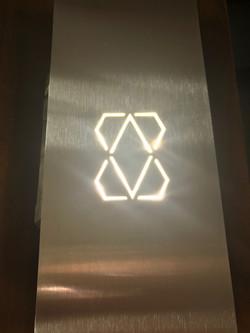 Stainless Steel Elevator Arrow Plate