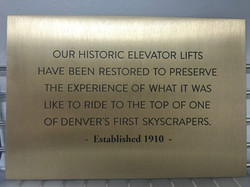 Engraved Bronze Plate