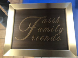 Brass Engraved Sign