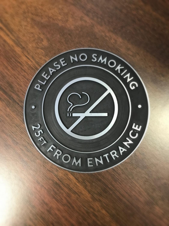 No Smoking Engraved Sign