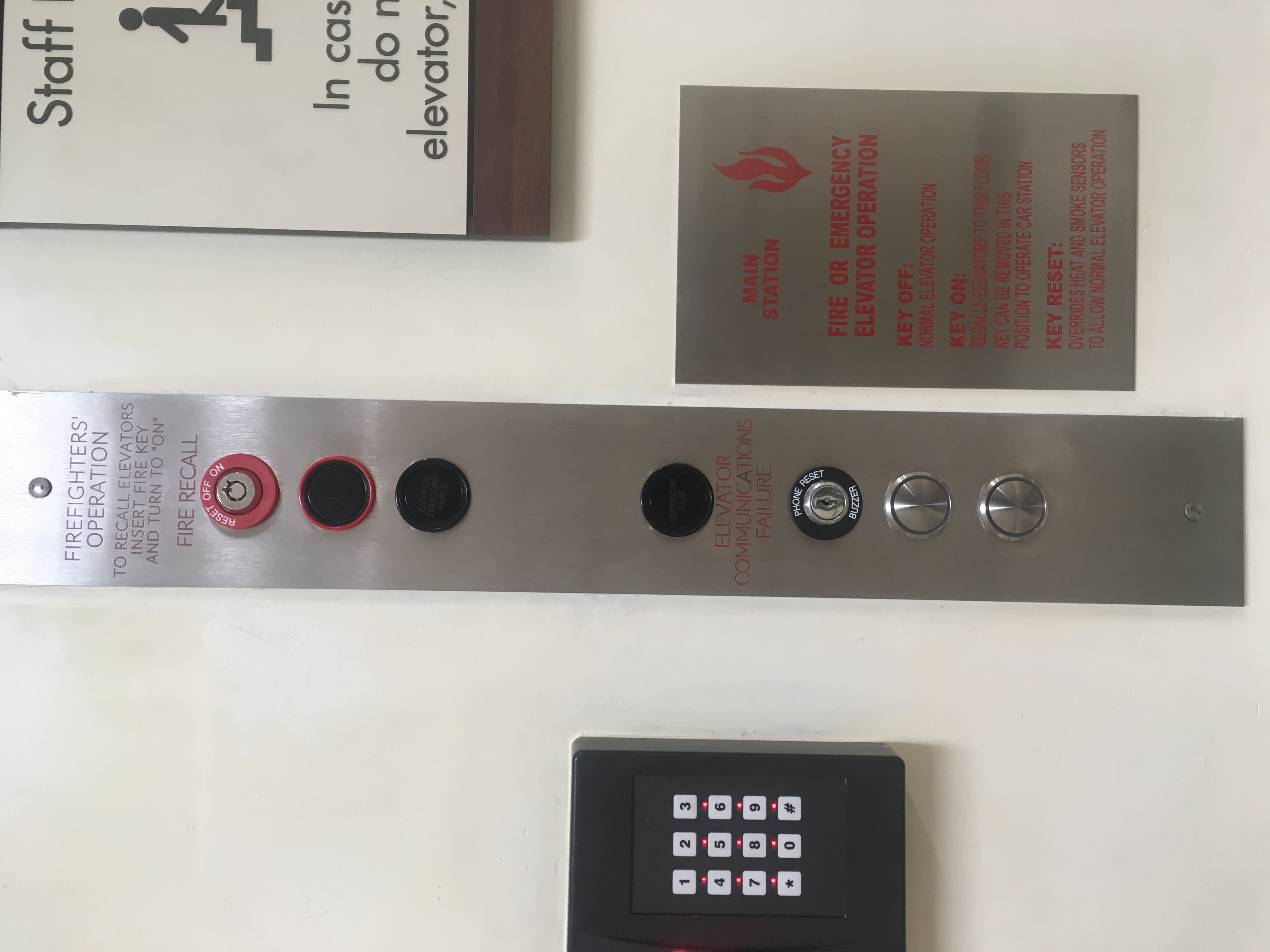 Engraved Elevator Plates