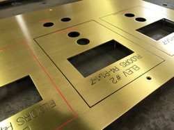 Engraved Brass Fire Control Panel