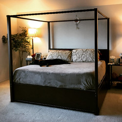 Custom Steel Canopy Bed