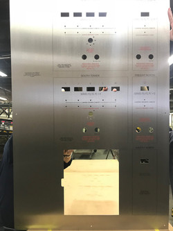 Engraved Elevator Fire Control Panel