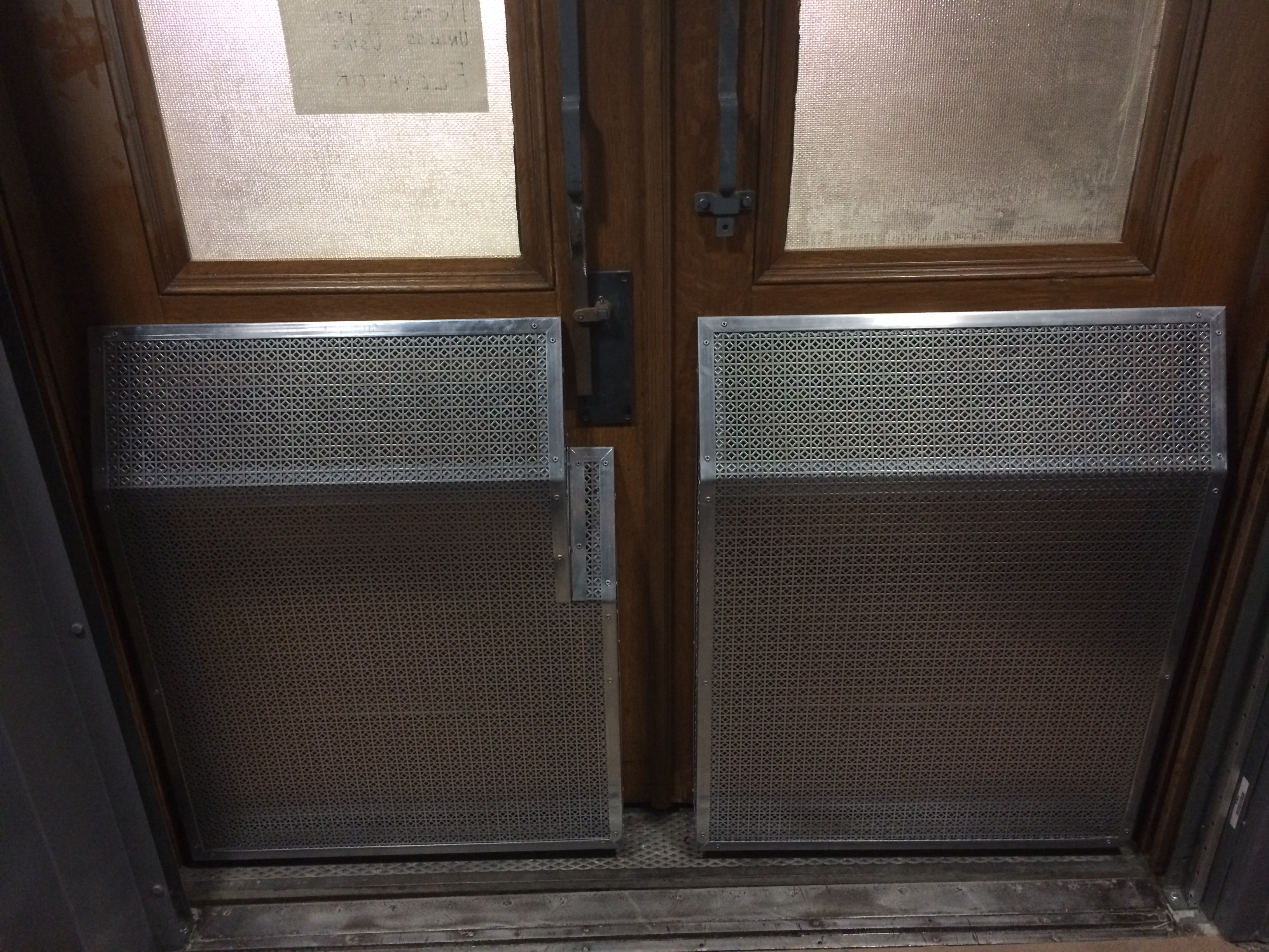 Stainless Steel Elevator Space Guards 2