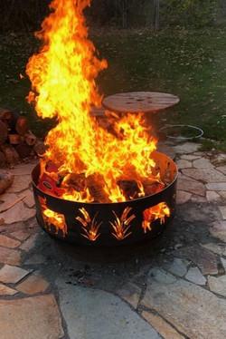 Custom Steel Fireplace Ring