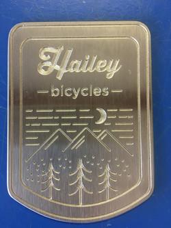Engraved Bike Head Plate