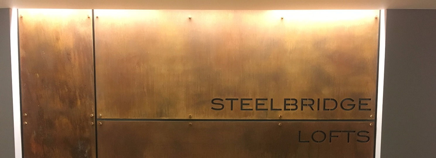 Steel Patina Sign