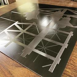 Engraved Blackened Steel