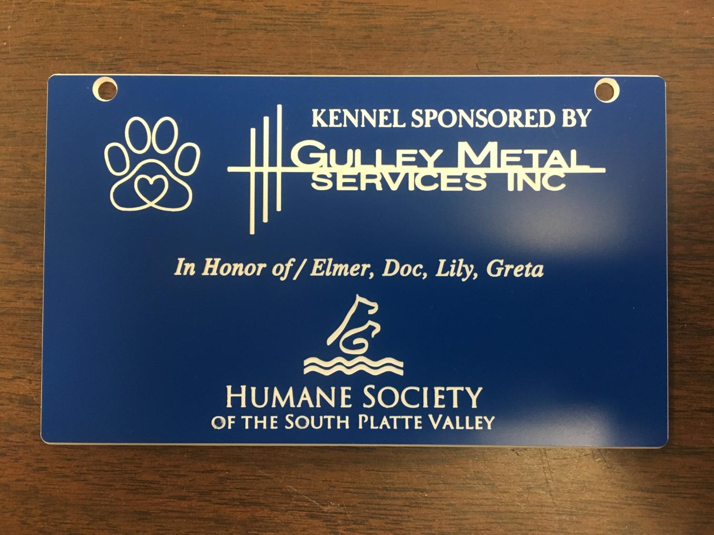 Engraved Sponsor Plate