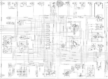 W114 elektromos kapcsolási rajz (200, 220, 230) - SGabo