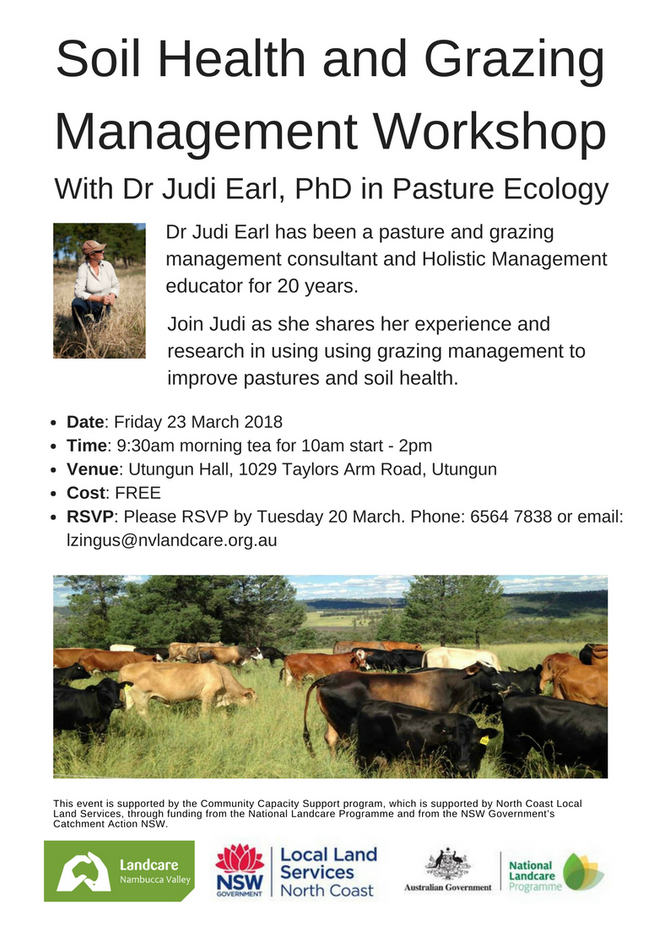 FREE workshop: learn how to improve soil health through grazing management
