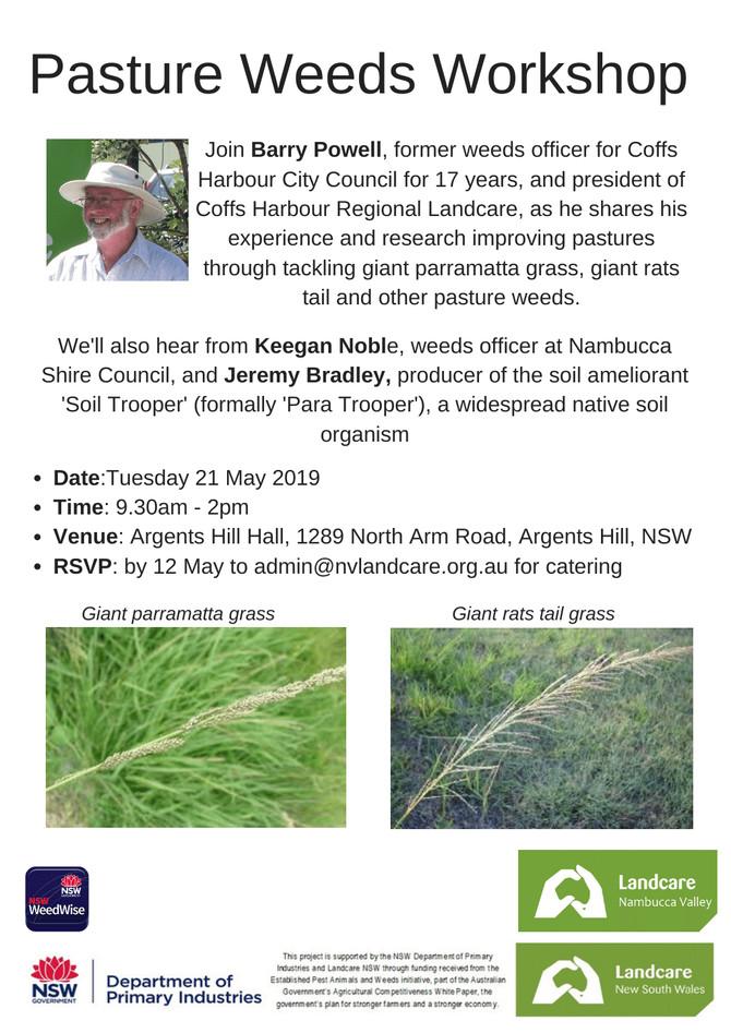 Pastoral Weeds Workshop 21st May - Argents Hill Hall