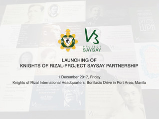 Knights of Rizal Partners with pSaysay