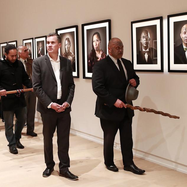 2018 Exhibition opening at Te Kōngahu Museum of Waitangi