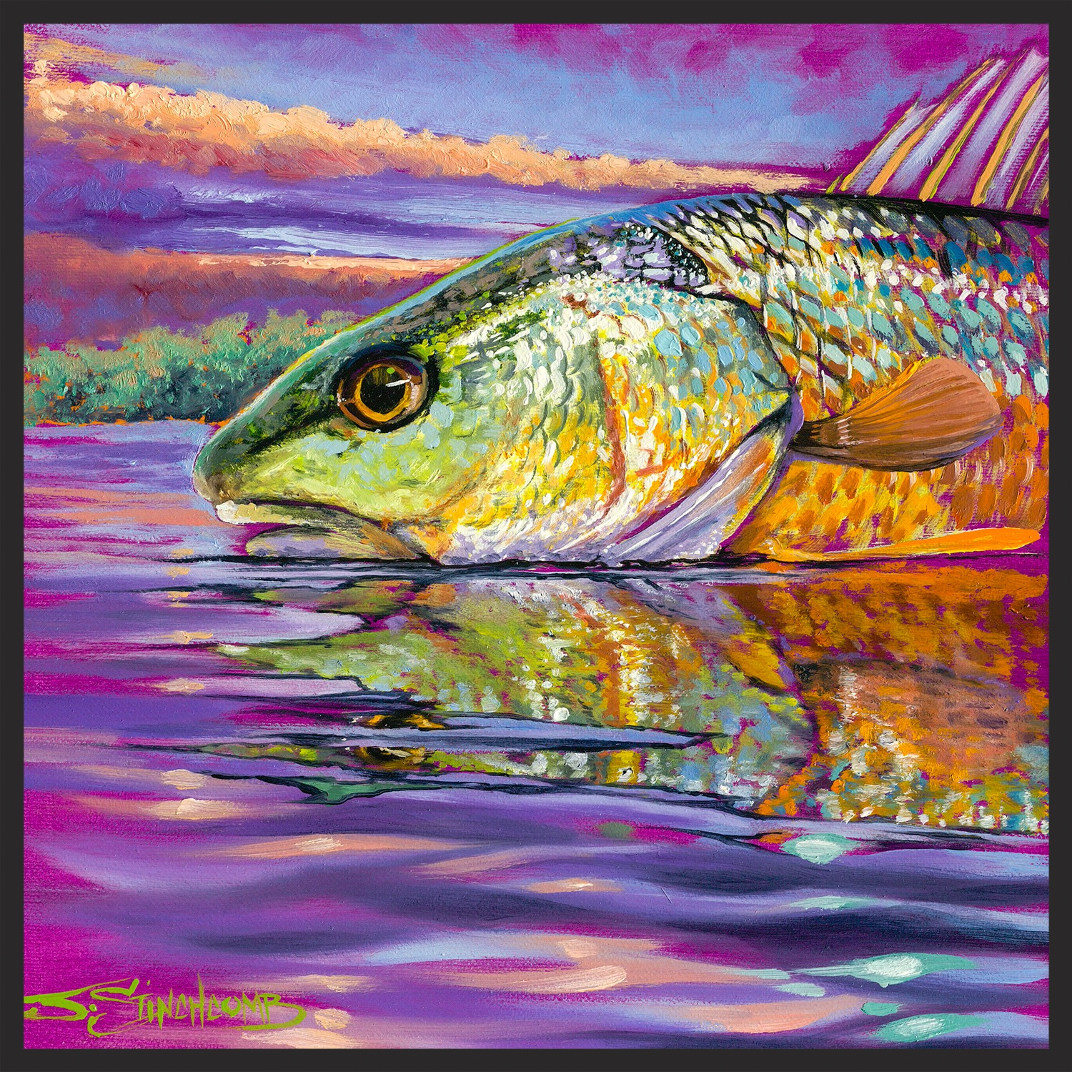 """Sunrise Redfish"" 1/3 series"