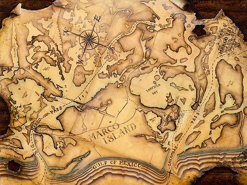 """""""ISLANDERS PIONEER MAP""""  (unframed)"""