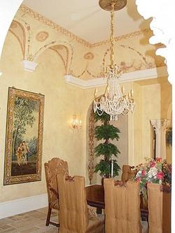 Ornate dining Room mural