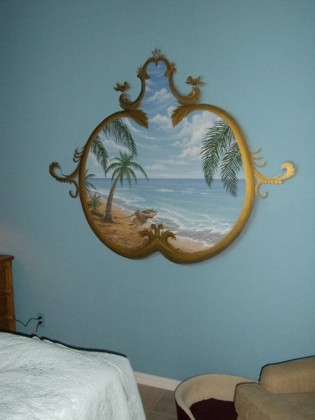 Antique beach window