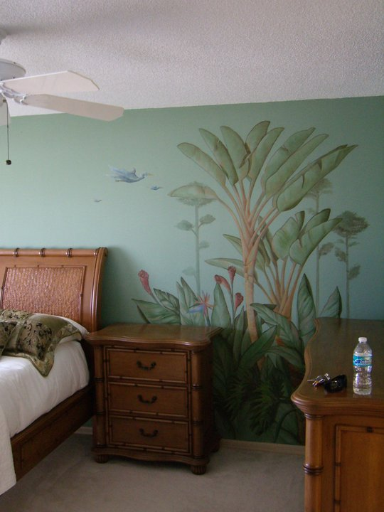 Tropical bedside Mural