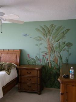 Tropical bedside Mural