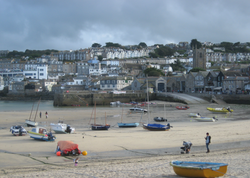 Figures on St. Ives Beach