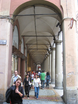 Collonades in Bologna, Italy
