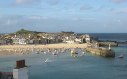 St. Ives Harbor, Cornwall, England