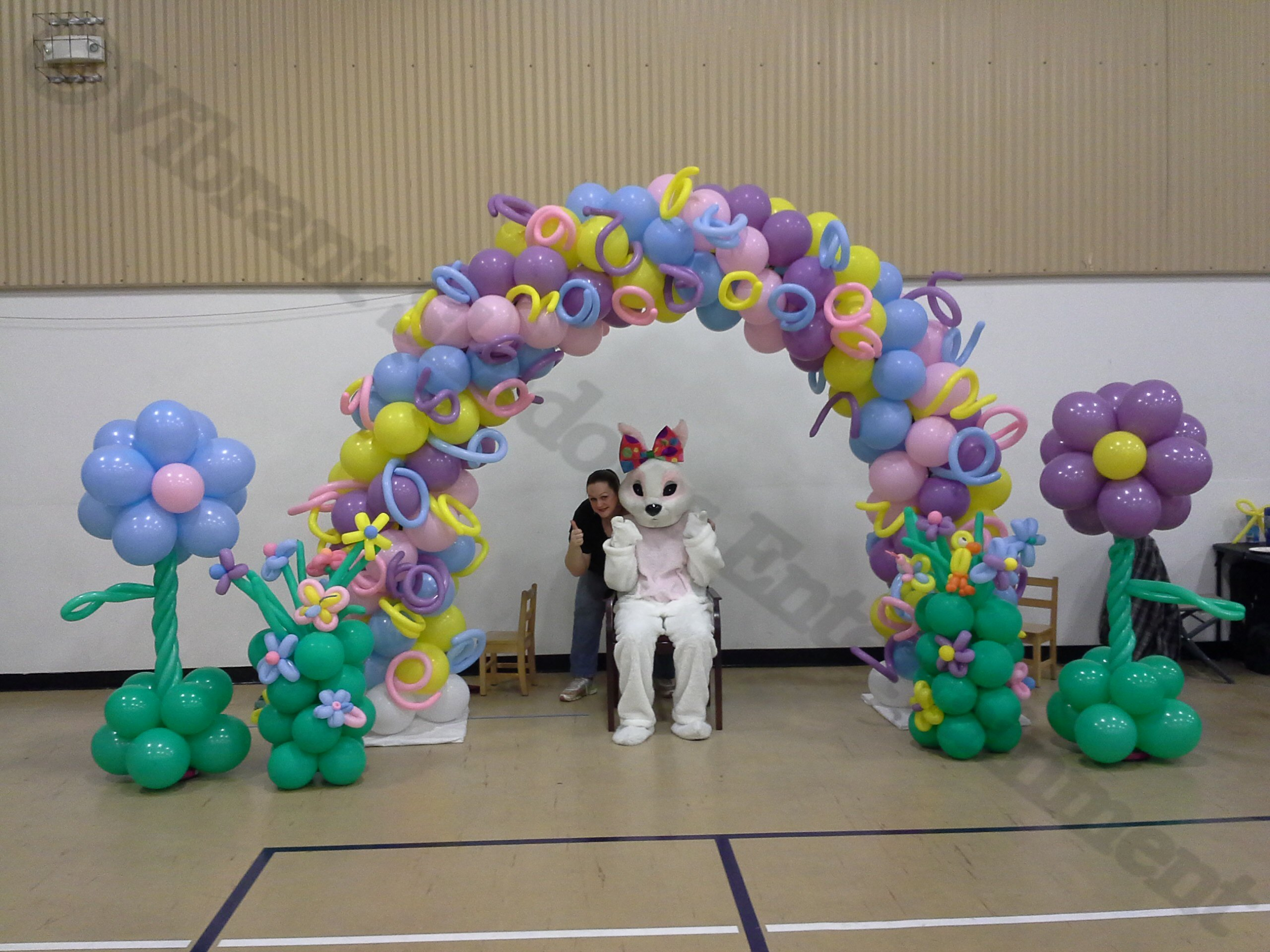 Easter balloon arch